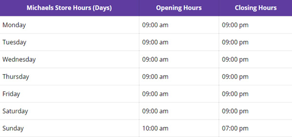 michaels-hours-from-monday-to-sunday-schedule
